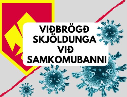 Viðbrögð Skjöldunga við Samkomubanni